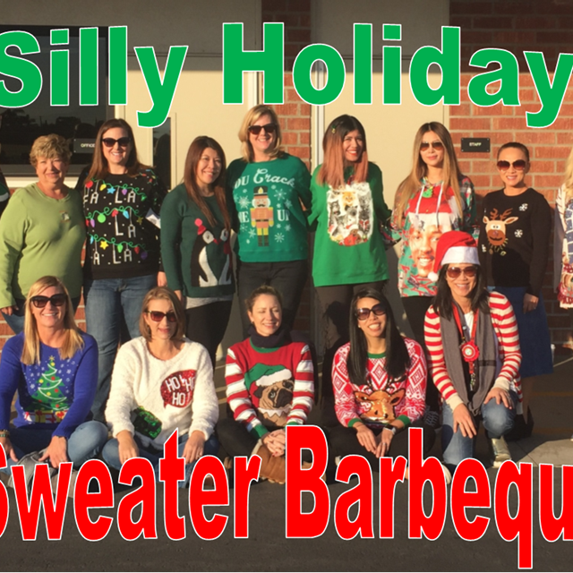 Our Silly Holiday Sweater Barbecue establishes a bond between teachers as they let out their inner goofball!