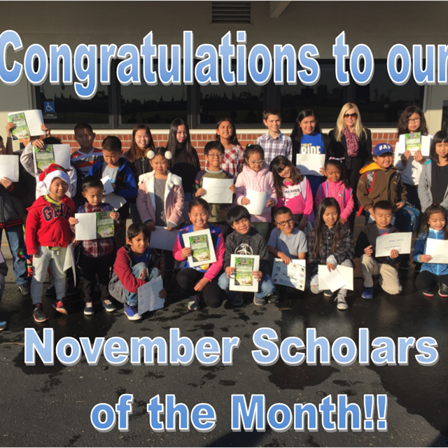 We would like to take a minute to accolade our November Scholars of the Month. Never give up!