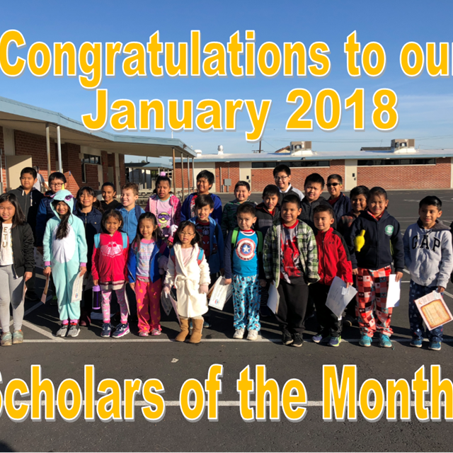 Anthony proudly accolades our scholars of the month for January!