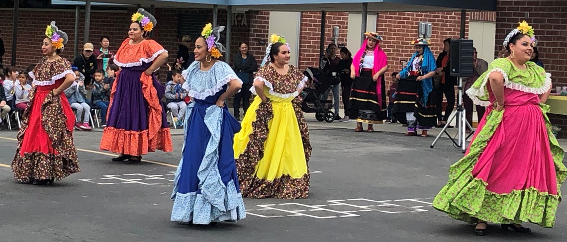 Our Cinco de Mayo celebration featured the amazing Santiago High School Folklorico Dancers and the Santiago Parent Dancers